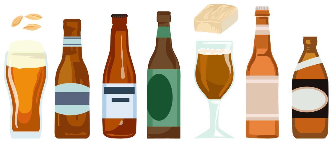 Vecteurs de bière
