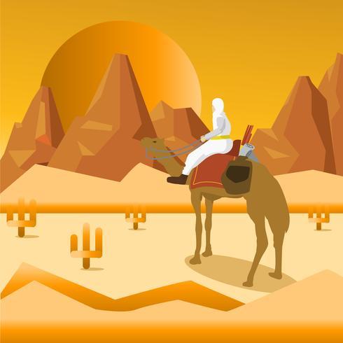 Ilustración de Nomad Walk In The Desert