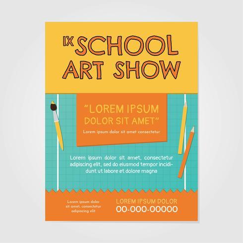 Schule Art Show Einladung