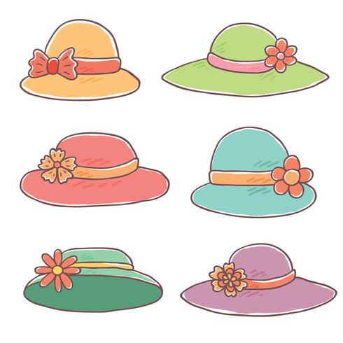 Vecteur dessiné à la main Kentucky Derby Hats