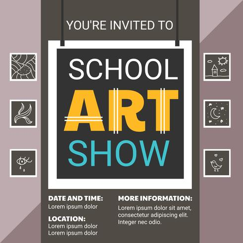 Art Show Flyer Template Free Gallery Template Design Free Download