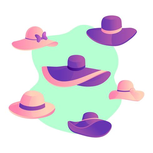 Kentucky Derby Hats Vector