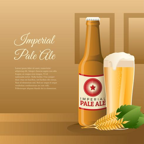 Imperial Pale Ale Product Vector