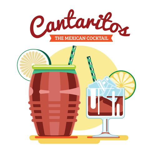 Cantaritos Mexican Cocktail vector