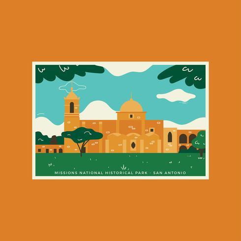 San Antonio Missions Geschichte Vektor