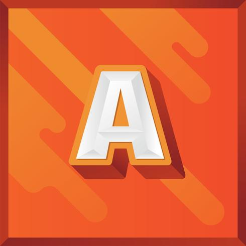 Letter A 3D-vector