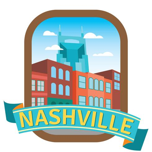 nashville illustration vektor