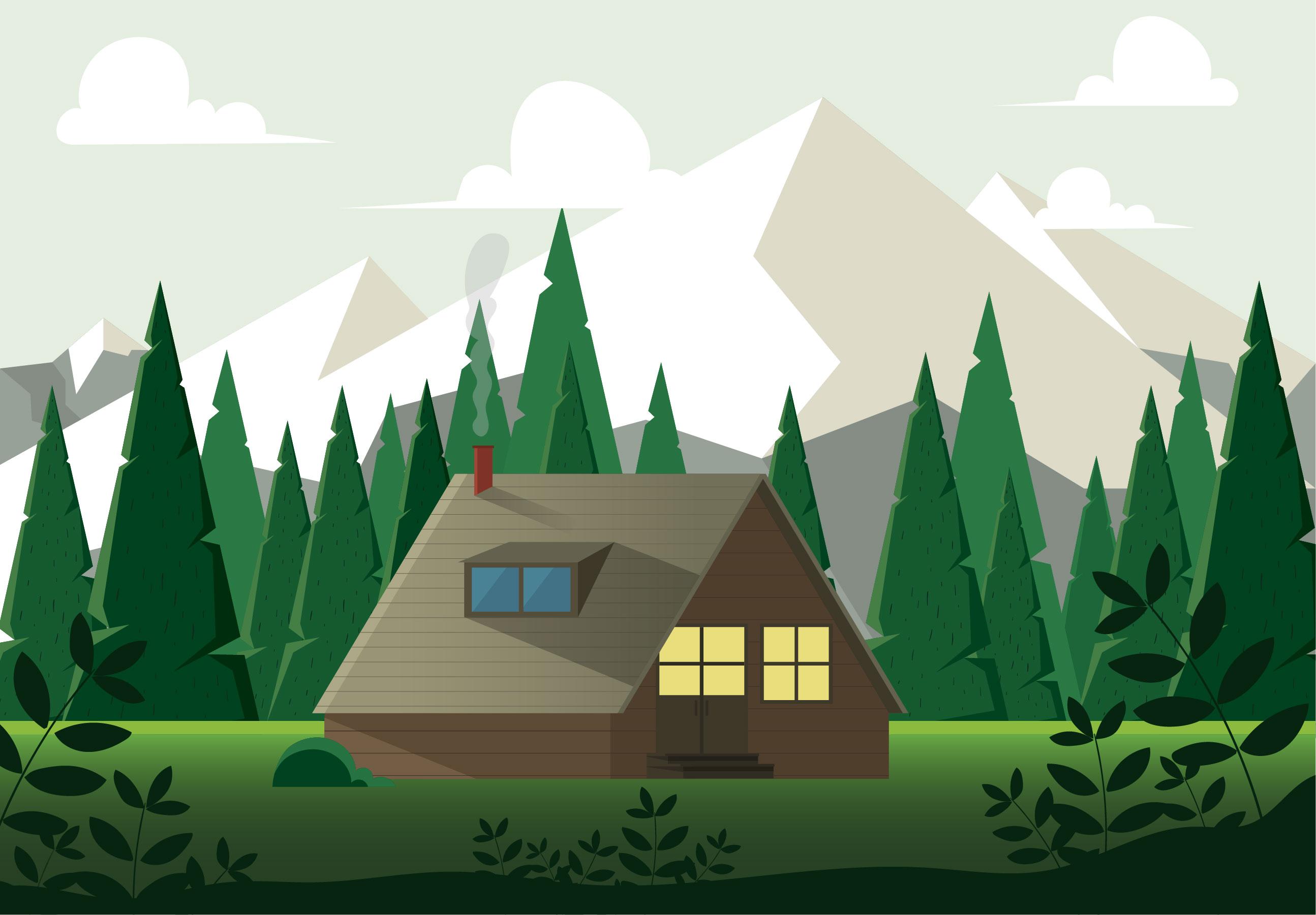 Vector Nature Landscape Illustration Download Free