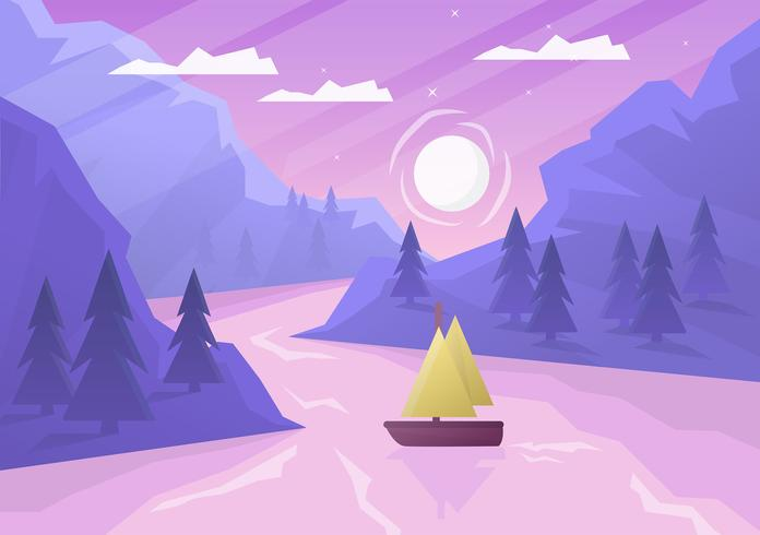 Vector Abstract Landscape - Download Free Vector Art, Stock Graphics & Images