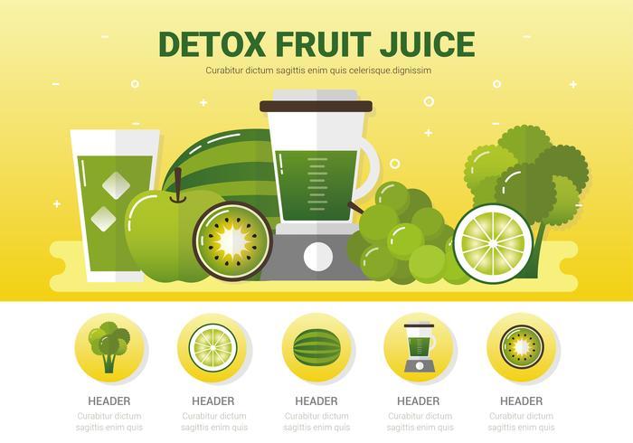 Fond de vecteur de fruits Detox
