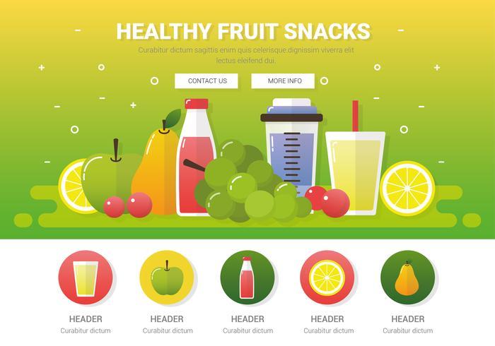Vector Fresh Healthy Fruits