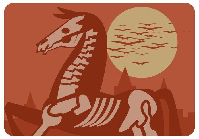 de dode paardenvector