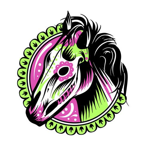 Day Of The Dead Horse Illustration
