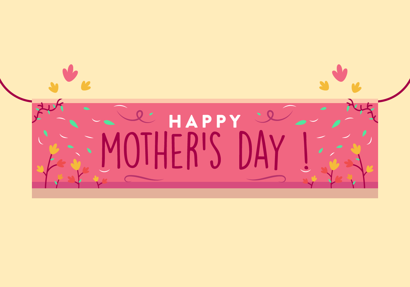 Mothers Day Banner Free Vector Art