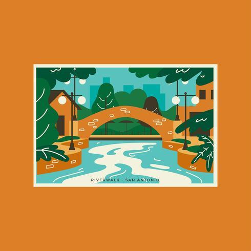 San Antonio Riverwalk Cartes Postales
