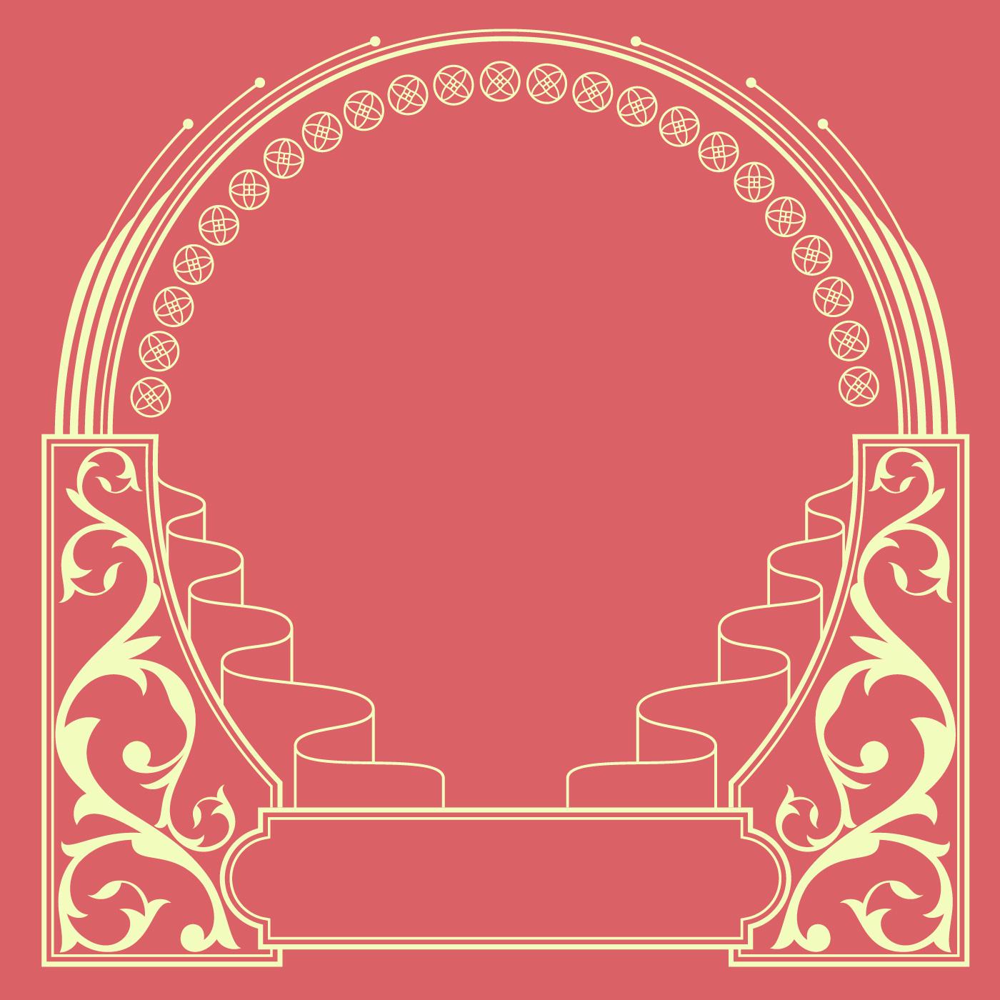 Ornamental Art Nouveau Frame Vector - Download Free Vector Art ...