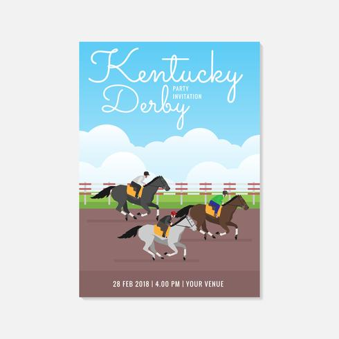 Kentucky Derby Party Einladung Vorlage