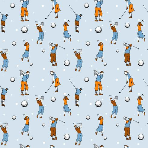 Vintage Golf Seamless Pattern