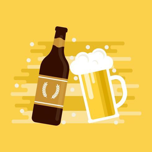 Imperial Pale Ale bière Illustration vectorielle