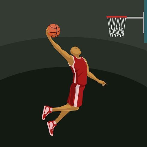 Slam Dunk-Illustrations-Vektor