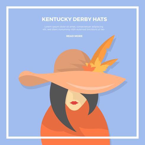 Plat Kentucky Derby Hat Vector Illustration
