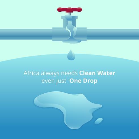 Sauberes Wasser für Afrika Vector