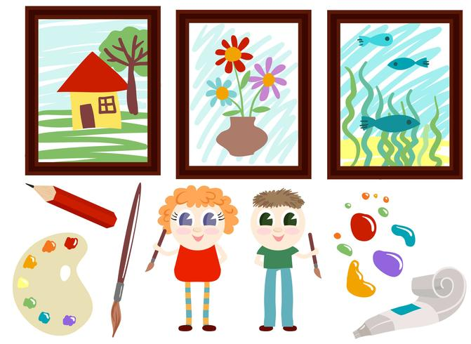 Vecteurs d'art scolaire