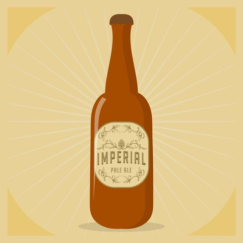 Imperial Pale Ale Label Vector