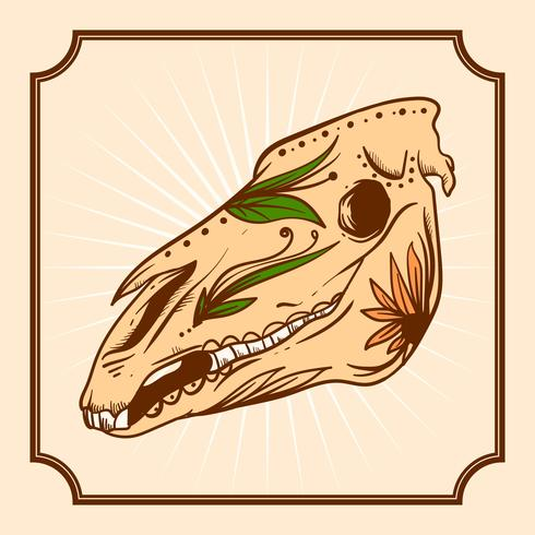Journée dessiné à la main du cheval mort Vector Illustration
