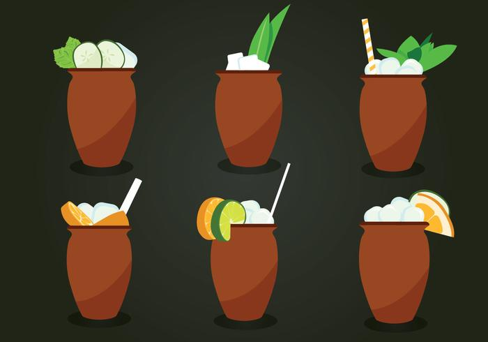 Cantaritos Cocktail Vector Pack