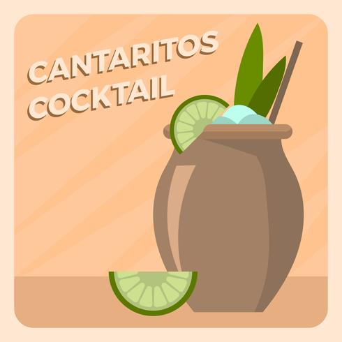Plat Cantaritos Cocktail Vector Illlustration