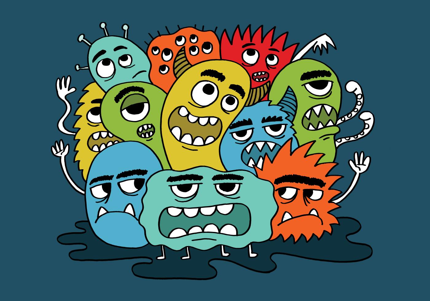 grumpy monster group - Download Free Vectors, Clipart Graphics & Vector Art