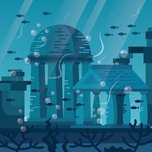 Ilustração da cidade de Atlântida