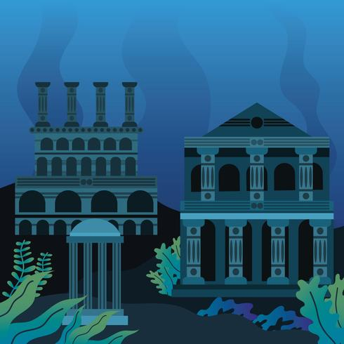 The Lost City Atlantis Clipart