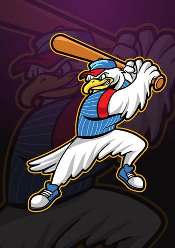 Eagle Baseball Mascot-logo
