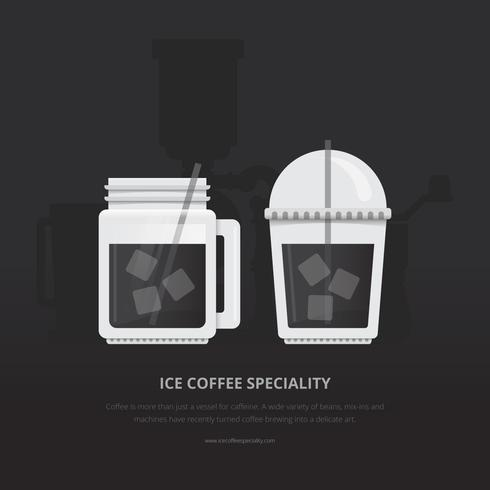 Ilustración de café helado. Coffee Brewing.