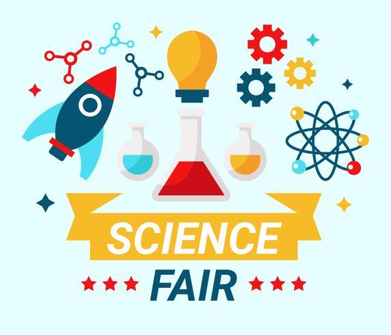 Vetor de conceito justo de ciência