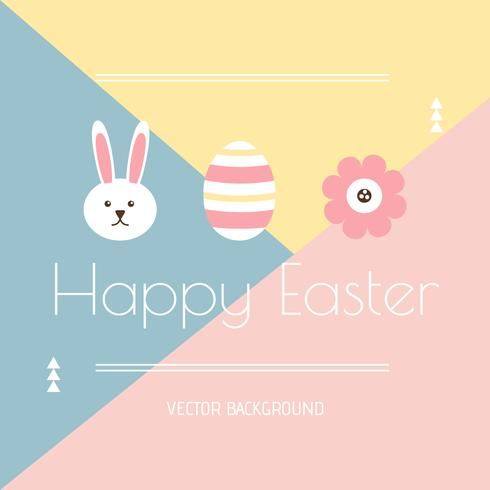Minimal Easter Background Vector