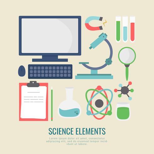 Vector elementos de ciencia