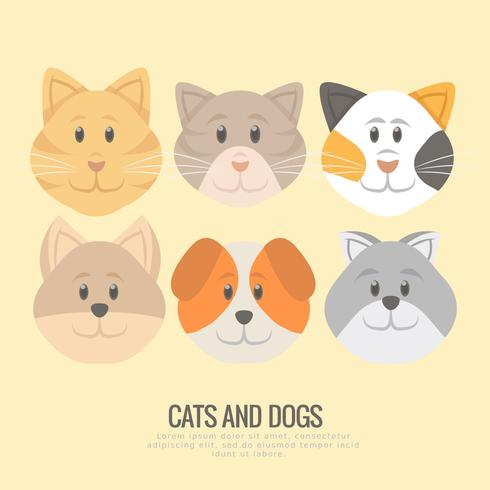 Vector Puppies and Kittens