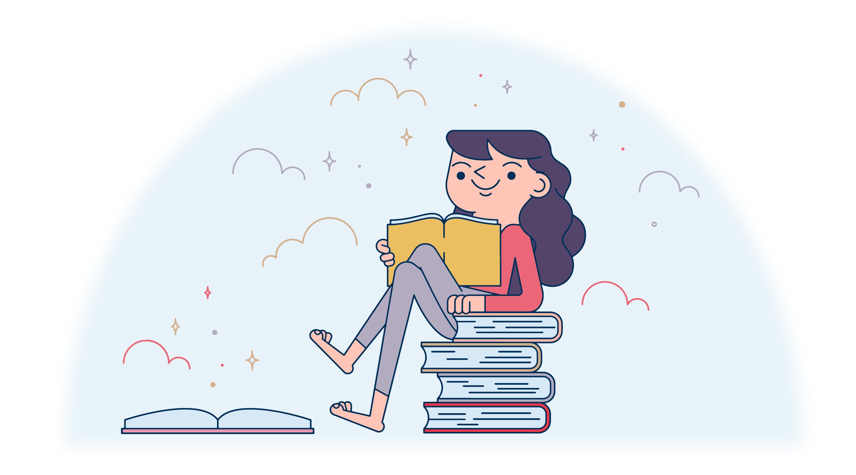 Download Books Lover Vector - Download Free Vectors, Clipart ...
