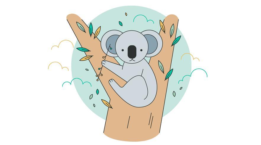 vector de koala