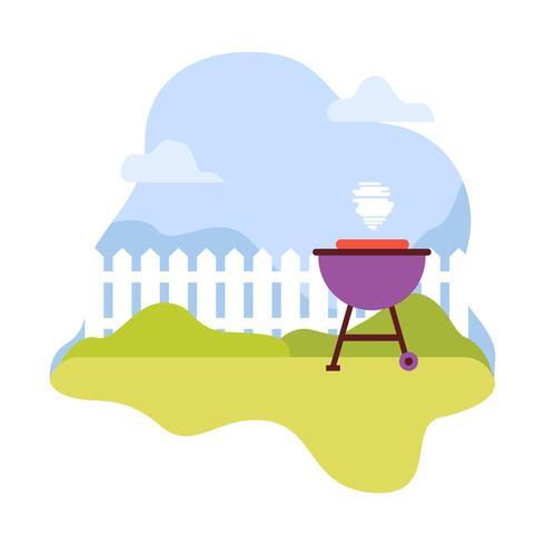 Illustrazione del barbecue del cortile