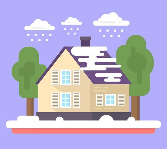 Flaches Familienhaus
