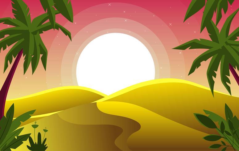 Vector Desert Landscape Illustration