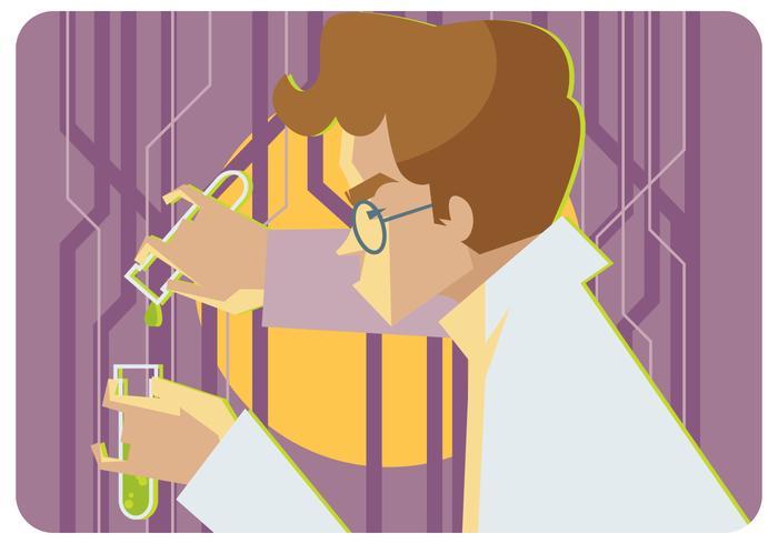 vector de experimento líquido secreto