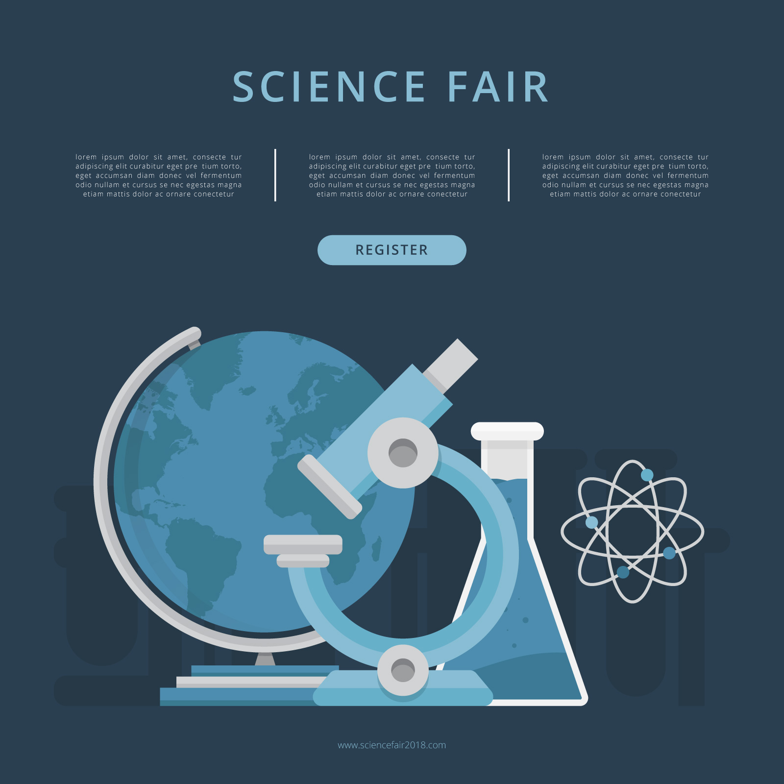 Science Fair and Innovation Expo Template 21 Vector Art at Intended For Science Fair Banner Template