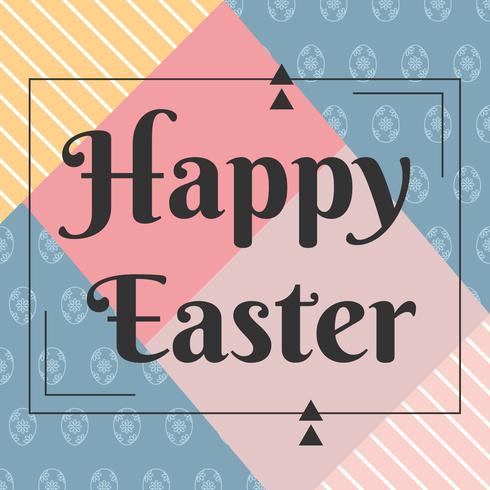 Eleganter glücklicher Ostern-Vektor