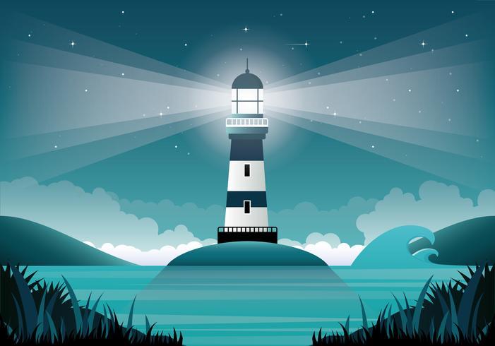 Illustration de phare de vecteur
