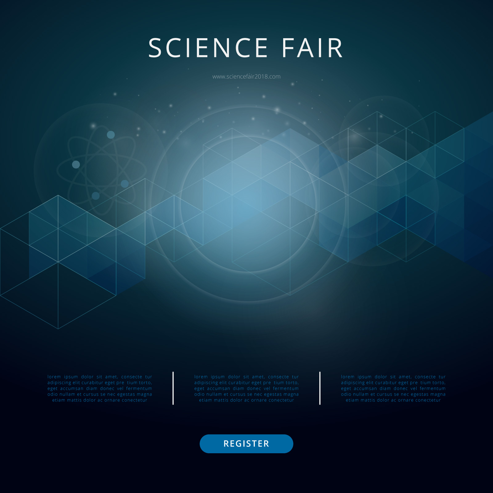 Science Fair and Innovation Expo Template 21 Vector Art at For Science Fair Banner Template
